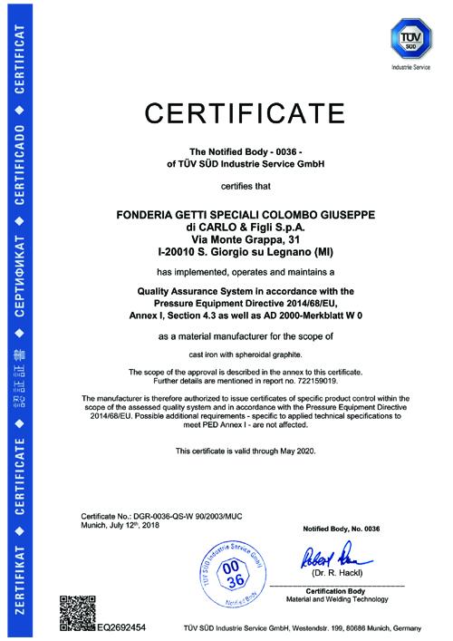 Certificates W0 + PED_2020 FGS Colombo2 copia