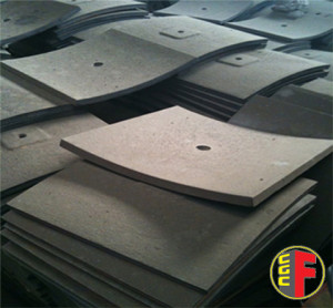 Liner plates for mixers in Colchrome Standard
